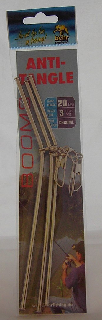 Chrome-Anti-Tangle-Boom 20cm 3 Stk.