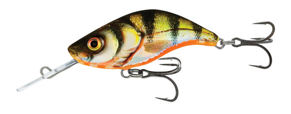Salmo Sparky Shad 4cm Yellow Holographic Perch